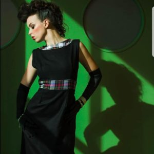 Tartan Panel Dress