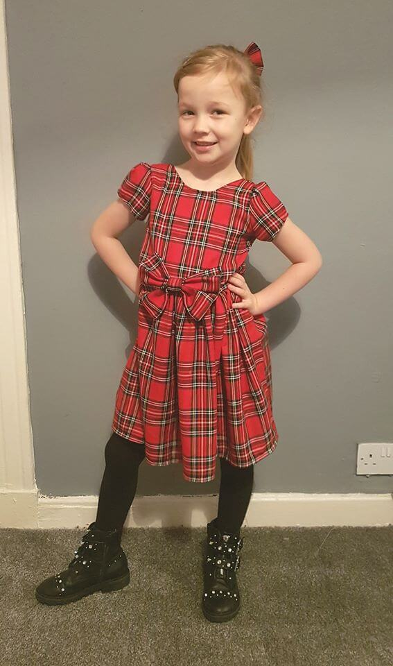 Tartan Bow Dress
